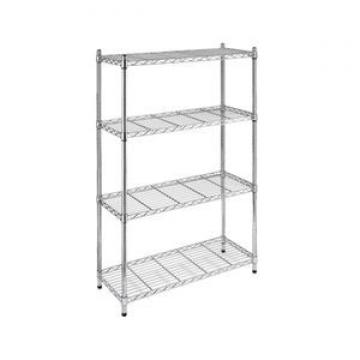 Commercial wire shelving and racking clothes storage chrome metro
