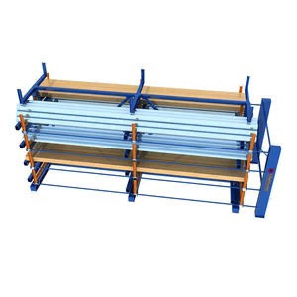 Retail Rolling Type Pallet Racking Roll out Shelf Roller Rack Systems #1 image